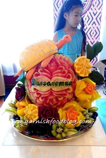 fruit carving designs 60th birthday
