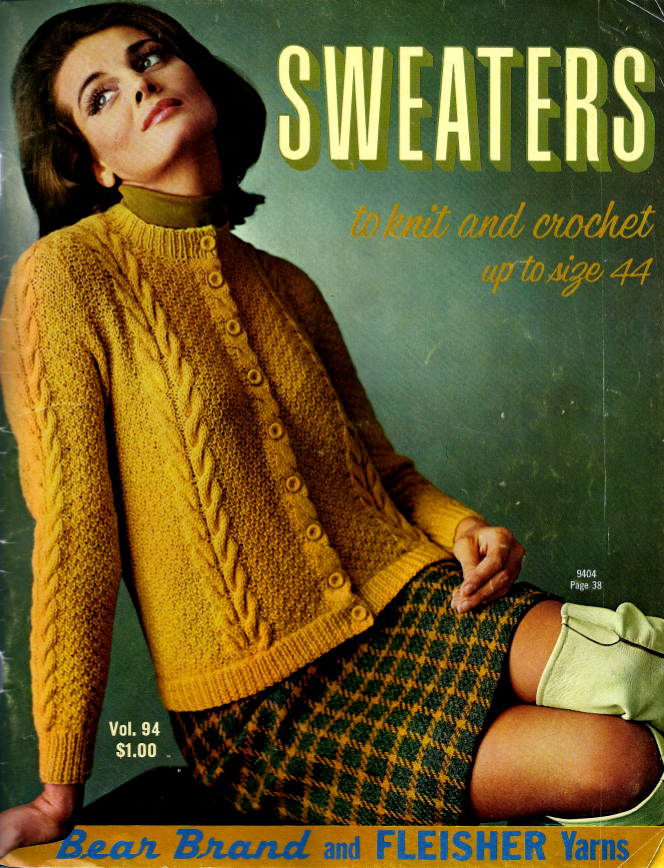 946173966 The Vintage Pattern Files  1960 s Knitting   Crochet - Sweaters