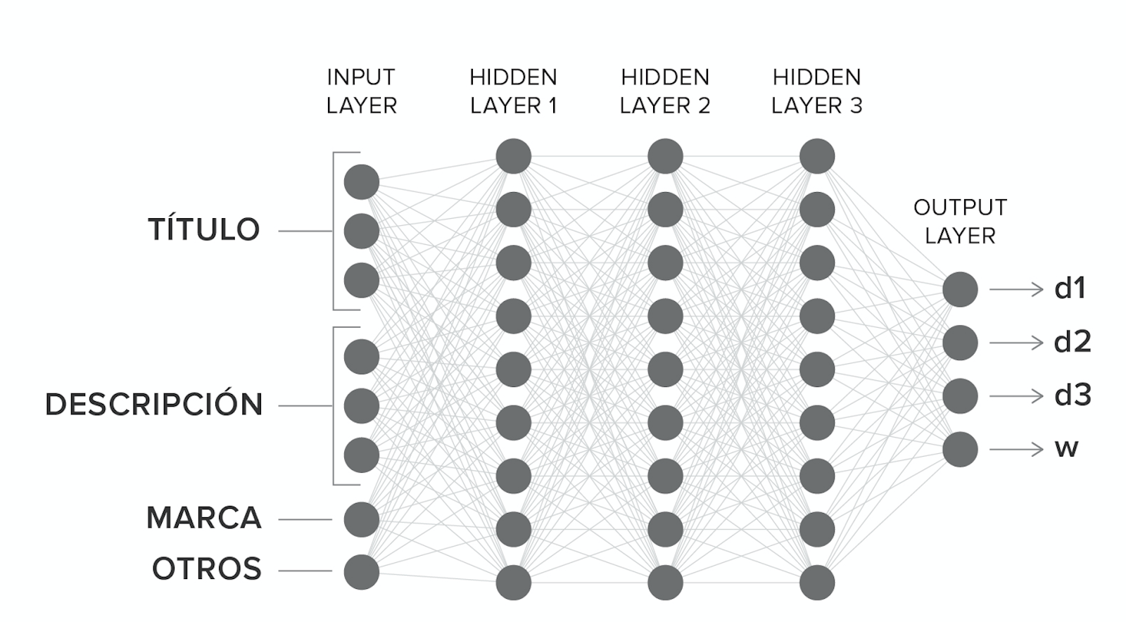 General architecture of the neural network model