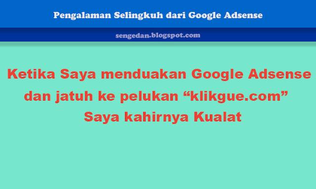 Pengalaman Selingkuh dari Google Adsense