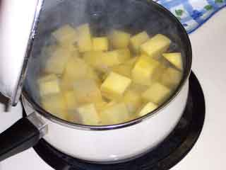 Rutabaga just started cooking