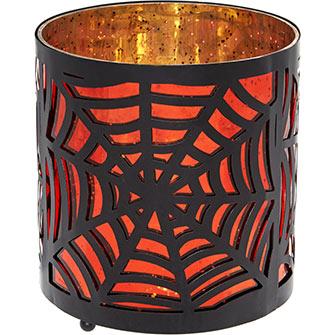 Halloween Spider Web Votive Holder