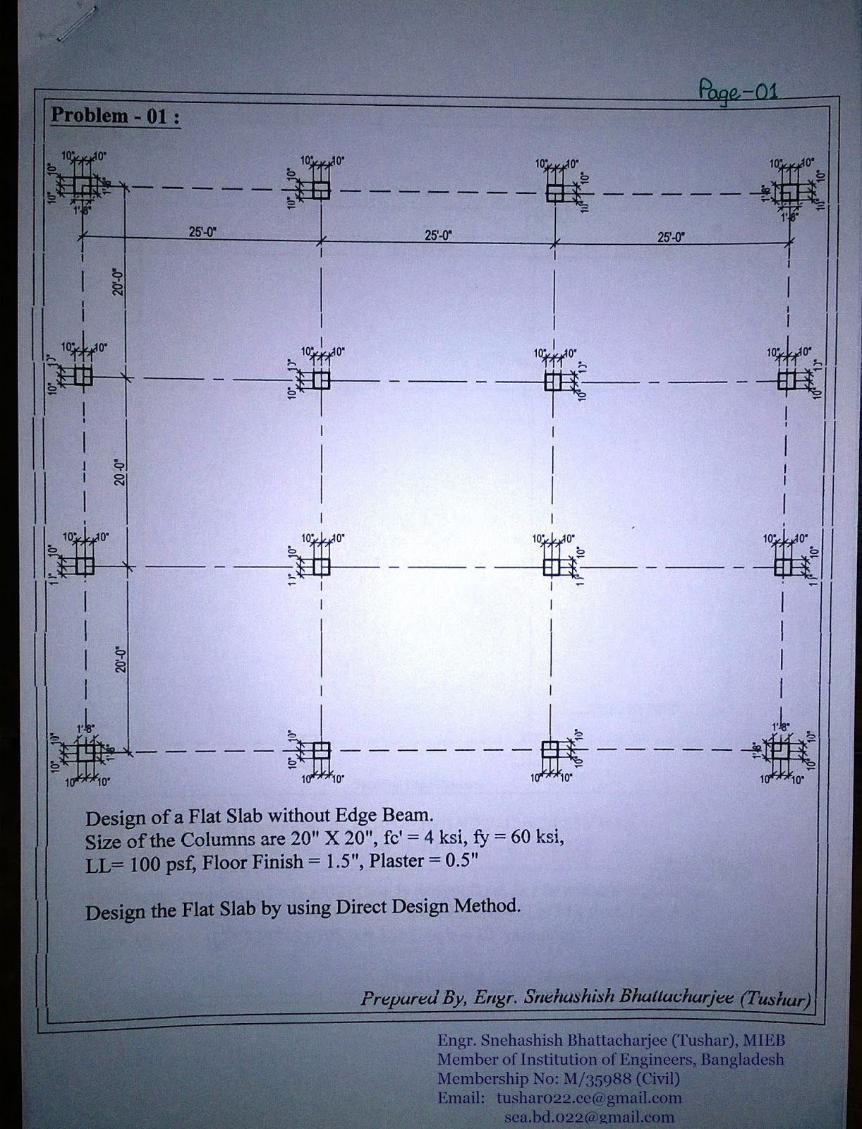 SEA Soft and Design Consultants: Design of Flat Slab - (Example-01)