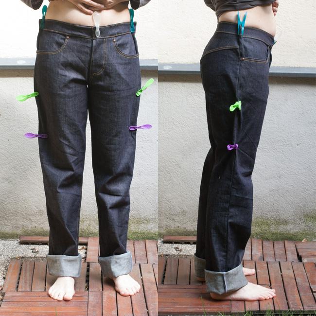 Meine selbstgemachte Jeans - Schritt 3: passt / passt
