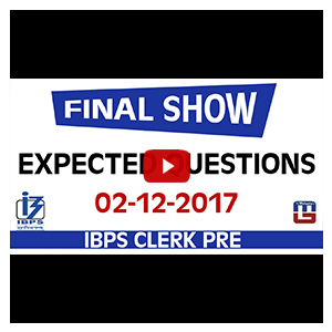 Expected Questions | Final Show | Maths | IBPS Clerk PRE 2017