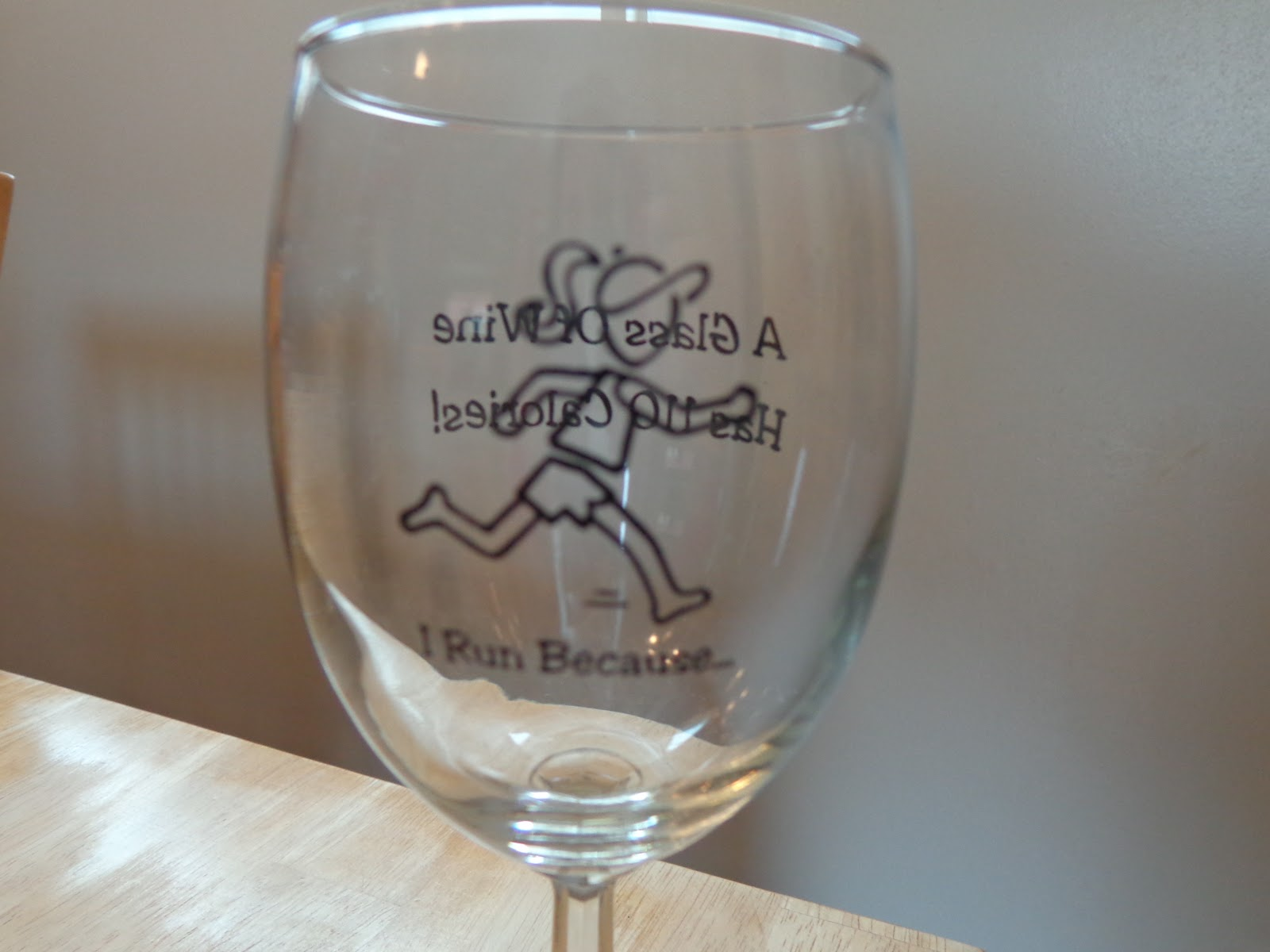 Cute Glassware Running Diva Mom I Run Because Wine Glass From What