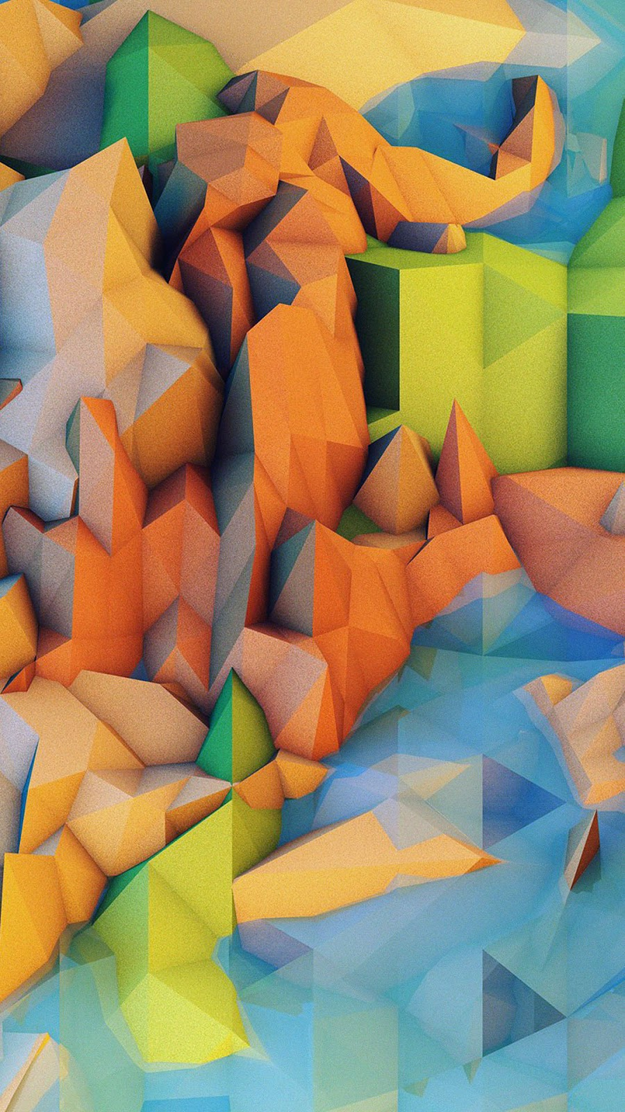 Low Poly Mountains CGI Android Wallpaper