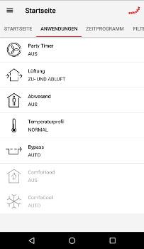 ComfoConrtol - Anwendungen