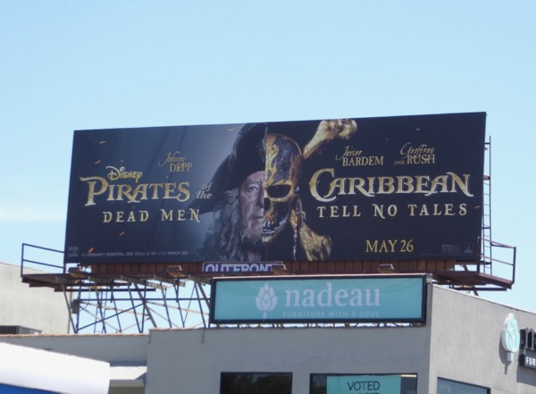 Geoffrey Rush Pirates Caribbean Dead Men Tell No Tales billboard