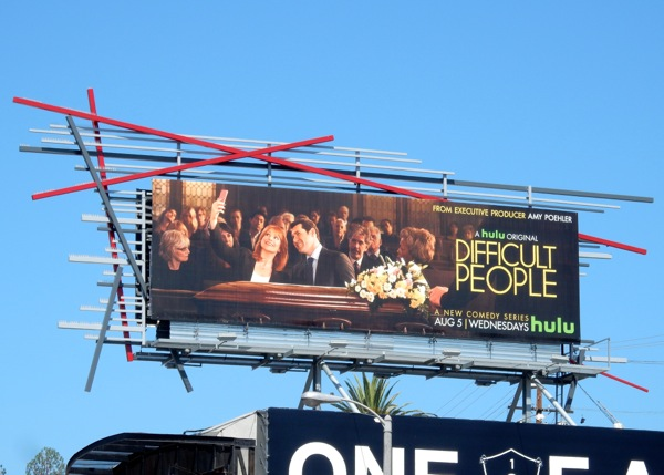 Difficult People series premiere billboard