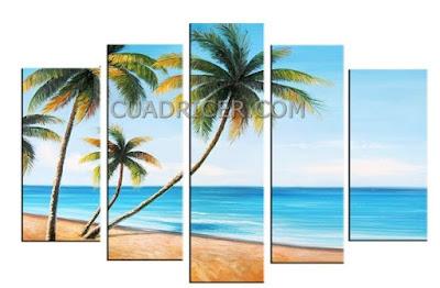 http://www.cuadricer.com/cuadros-pintados-a-mano-por-colores/cuadros-azul-turquesa/cuadros-palmeras-playas-tropical-arena-mar-calido-paraiso-confort-2275.html