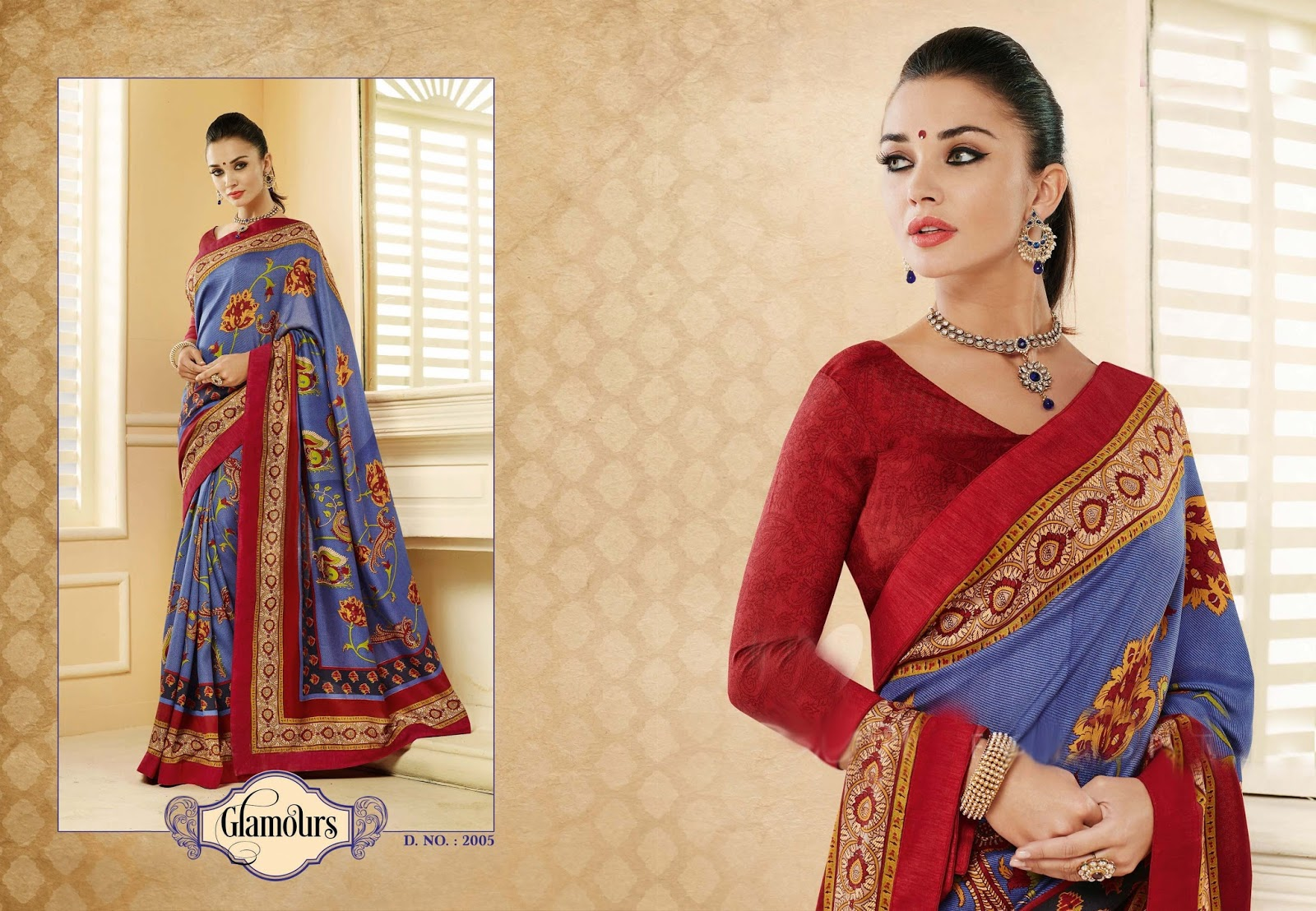 Amy jackson in saree advertisement