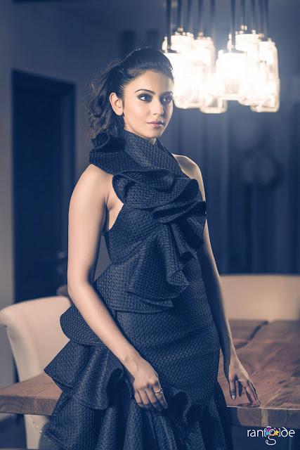 rakul preet singh latest photoshoot in black dress 2017