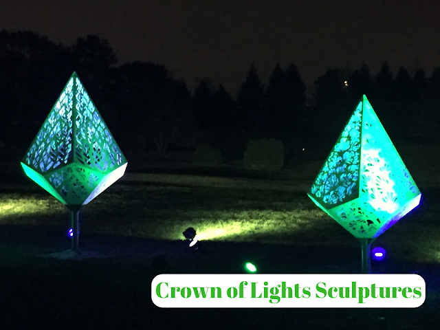 Crown of Lights Sculptures at Illumination at The Morton Arboretum
