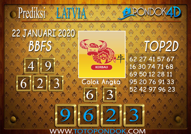 Prediksi Togel LATVIA POOLS PONDOK4D 22 JANUARI 2020