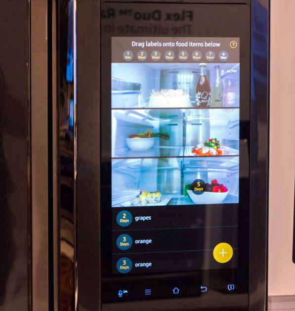 samsung tv refrigerator. samsung launched a refrigerator with builtin 21-inch lcd tv and home entertainment system tv n