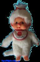 Monchhichi Japan White Girl 260693