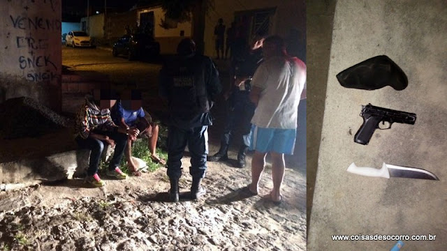 Policial de folga apreende menores portando faca e simulacro de pistola no Fernando Collor