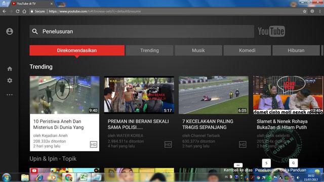 Cara Nonton YouTube di Komputer Tanpa Menggunakan Mouse