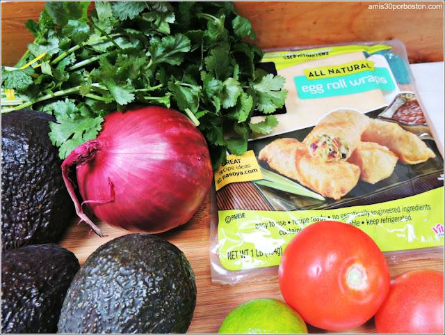 Ingredientes de los Rollitos de Guacamole