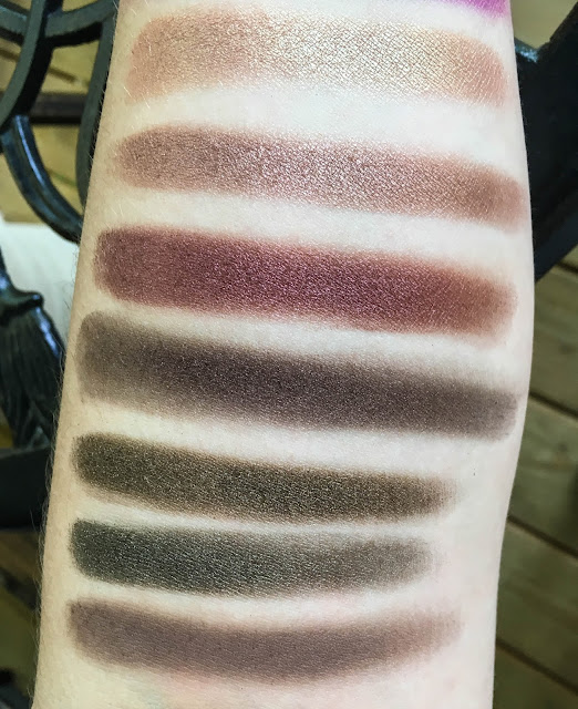 coastal scents shadow pots hot pots 2017 palette swatch swatches swatched cherry moss amaretto raisin berry cherry chocolate kodiak dark golden olive timeless taupe