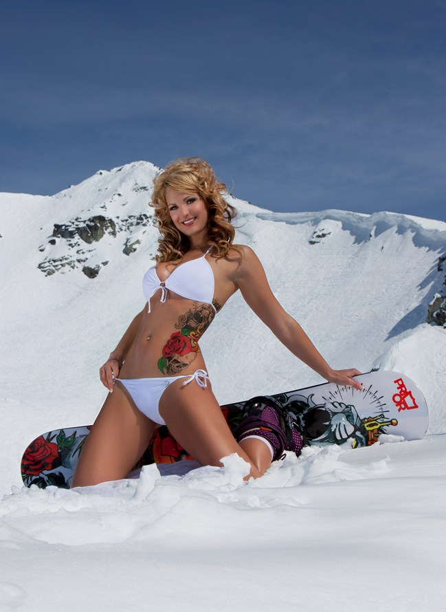 Sorry, bikini skiing pictures long