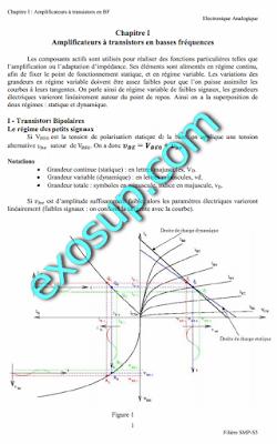 cours d'électronique analogique SMP S5 FSSM