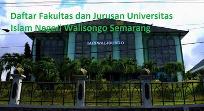 Daftar fakultas jurusan program studi sarjana magister lengkap Universitas Islam Negeri Walisongo Semarang Terbaru