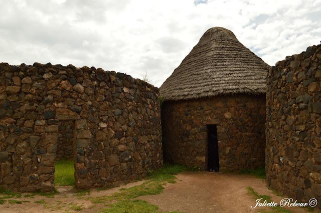 Ruine inca sur le site de Raqchi au Pérou