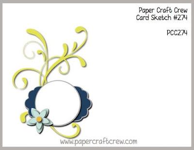 Paper Craft Crew Card Sketch Challenge #PCC274 Cardmaking Papercraft Inspiration