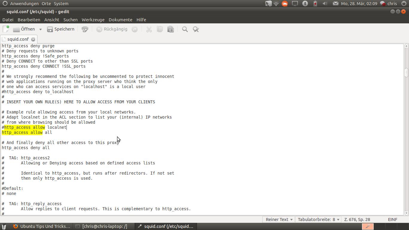 Ubuntu Tips & Tricks: How to set up a squid proxy in Ubuntu