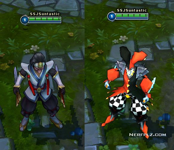 nerfplz league of legends masked shaco released on live