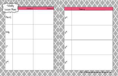 ... Country Librarian: My 2013-2014 Library Lesson Planner Template Pages