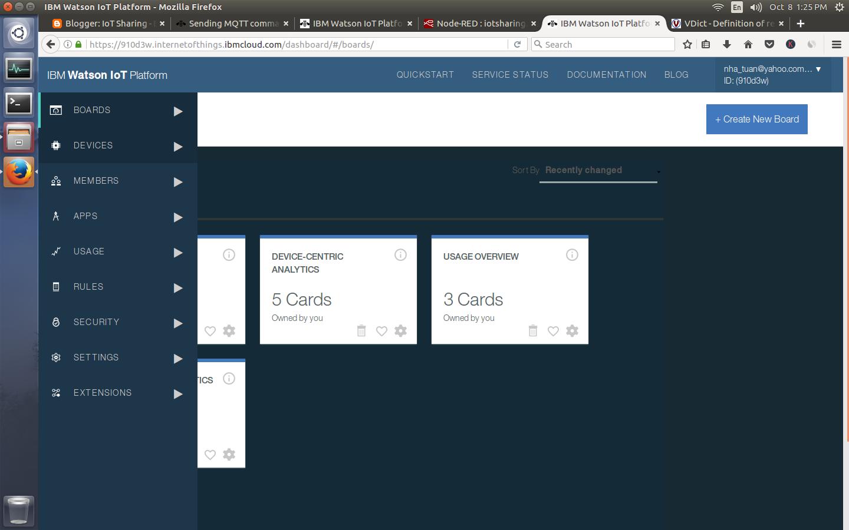 Demo 33: Monitor and control ESP32 via IBM Bluemix Watson
