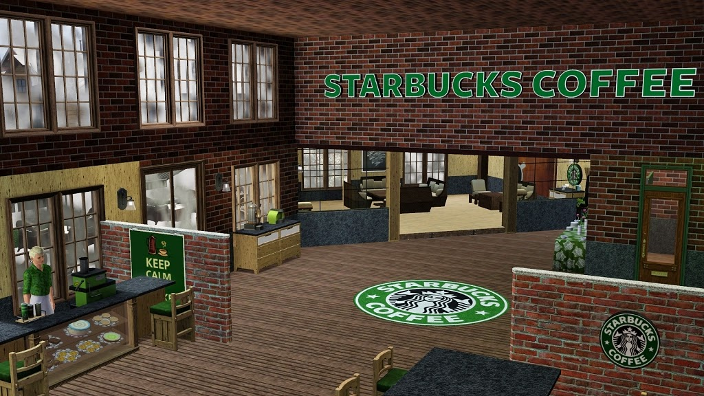 Sims 1 Collection Starbucks Coffee Shop By Galadrielh The Sims Mod