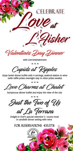 L'Fisher Hotel - Bacolod restaurants - Valentine promo