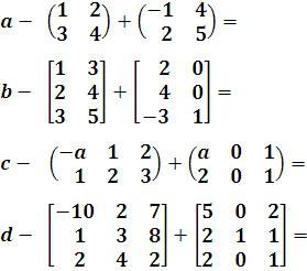 suma de dos matrices