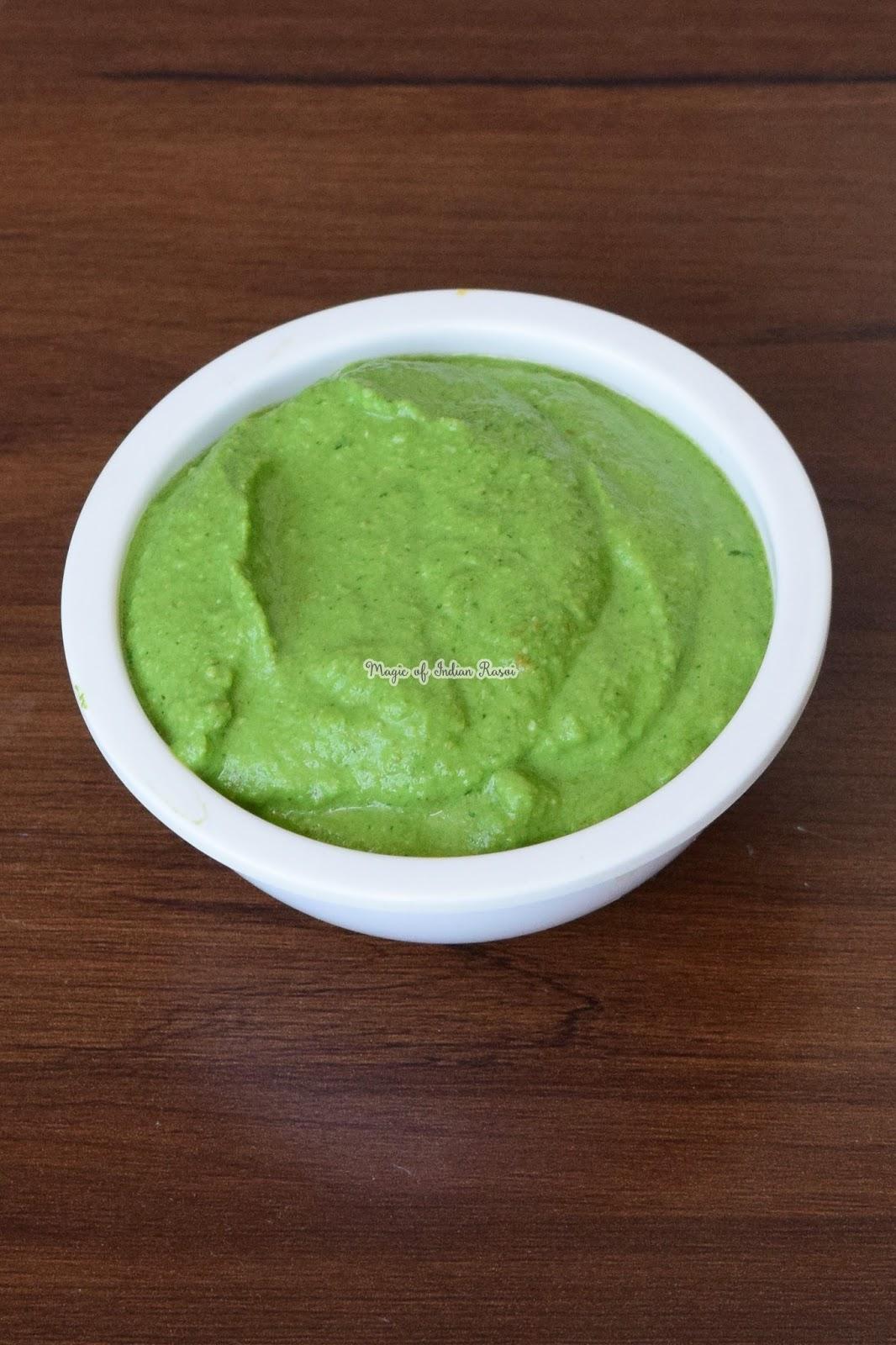 Dhaniya Pudina Chutney - Mint Coriander Chutney Recipe - Green Chatni - Hari Chatni - धनिया पुदीने की चटनी रेसिपी - Priya R - Magic of Indian Rasoi