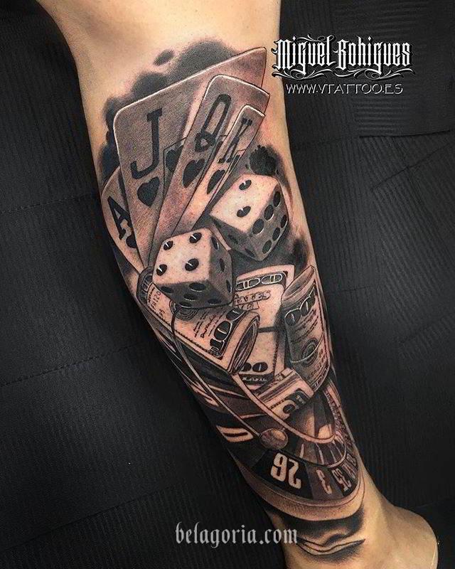 Tatuajes De Juegos De Apuestas Casino Poker Ruleta Dados Y Su