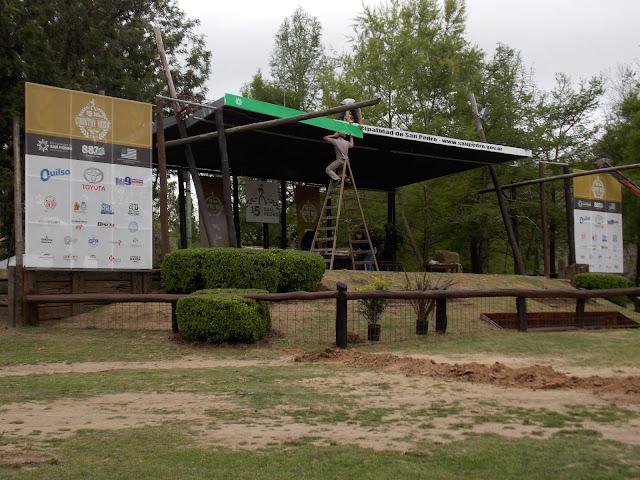 Preparativos para el San Pedro Country Festival 2018.