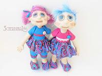 текстильные куклы карамельки