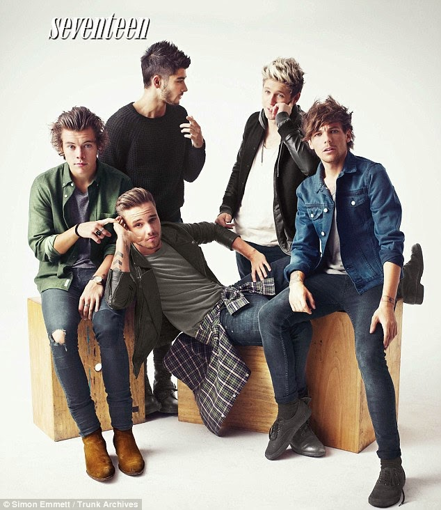 One Direction lands the Seventeen Magazine November 2014 'Hot Guy' cover