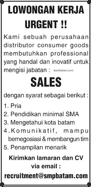 Lowongan Kerja Sebagai Sales Lulusan SMA