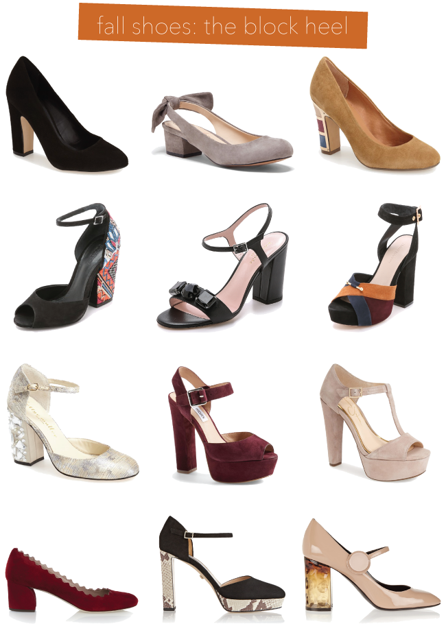 Fall Shoe Trends: Block Heels // A Style Caddy