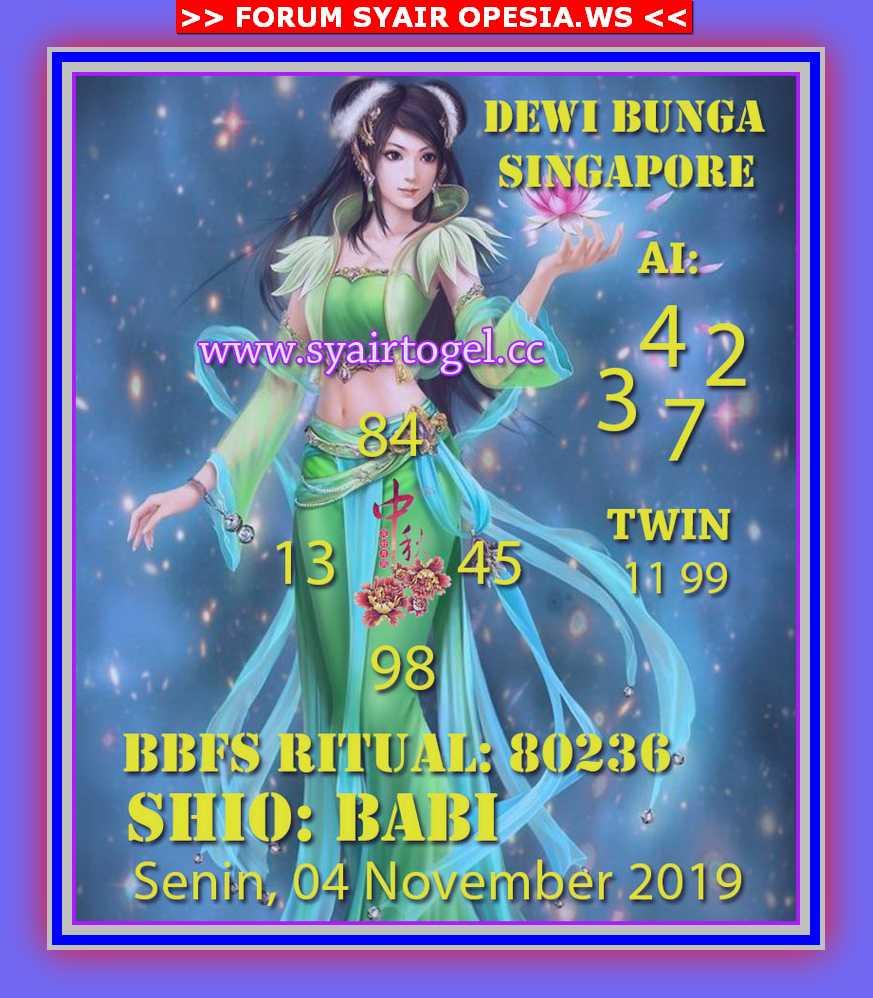 Kode syair Singapore Senin 4 November 2019 119