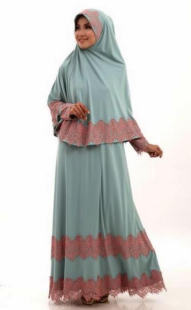 Gamis Syar'i Ide Kreasi Model Baju Muslim Terbaru Tren 2015