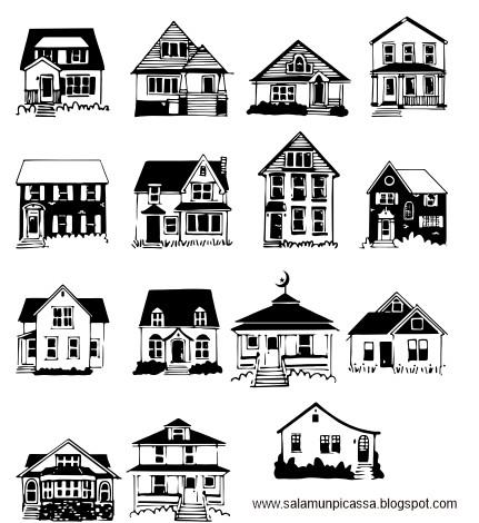 Kumpulan Gambar Rumah Untuk Desain Denah Format Coreldraw cdr