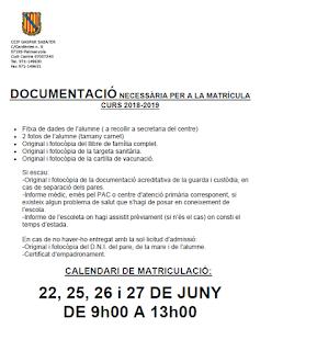 http://www.cpgasparsabater.org/curs%2017-18/Escolarització/documentació matrícula.pdf