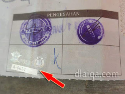 sticker pengesahan STNK