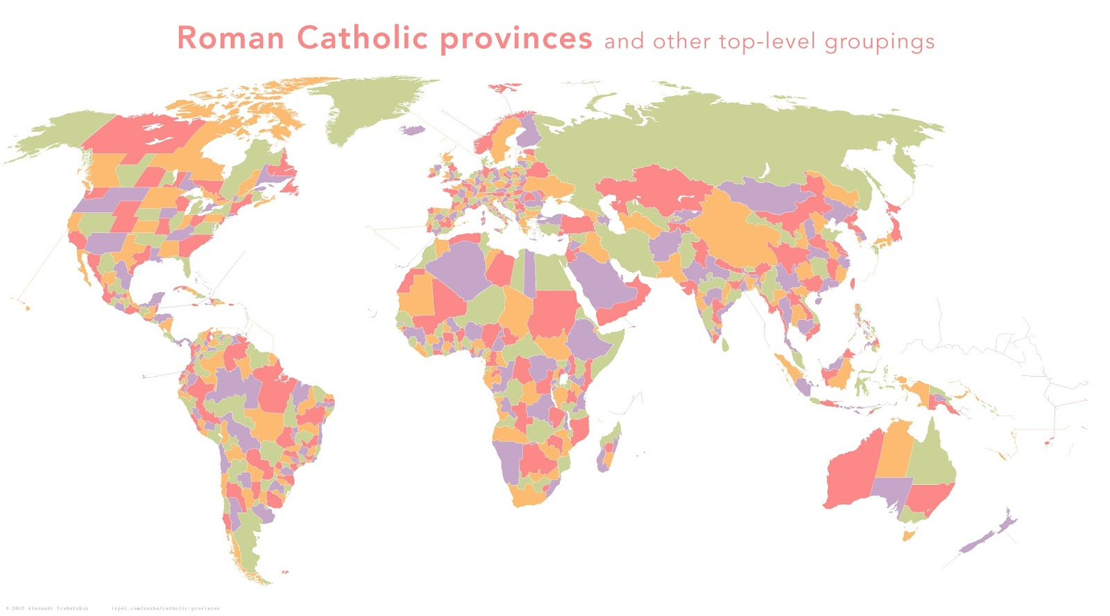 Roman Catholic provinces & other top-level groupings